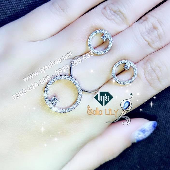 SÉT MẶT & BÔNG TAI HOOP DIAMOND - N.4933