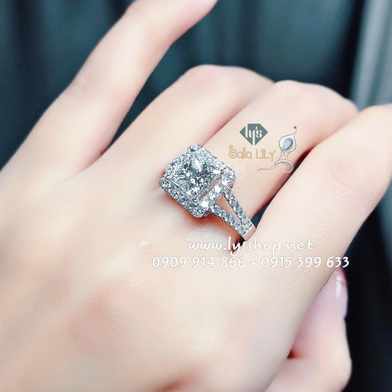 MẪU NHẪN HALO KC PRINCESS 1.3 CT - N.5837